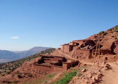 Berber village in Azaden Valley in the High Atlas Mountains of Morocco