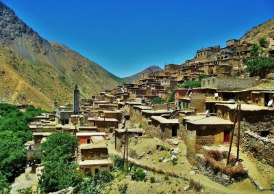 Berber village of Amskerou in the High Atlas Mountains of Morocco