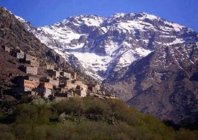 Berber village of Aremd with Jebel Toubkall behind