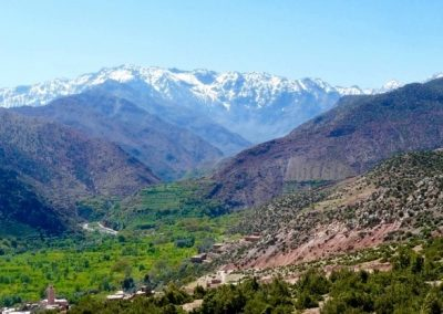 Jebel Toubkal and surrounds in the High Atlas Mountains of Morocco