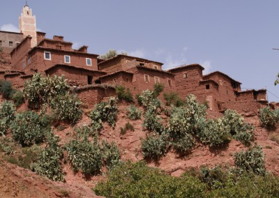 Traditional Berber mud-houses in the High Atlas Mountains of Morocco