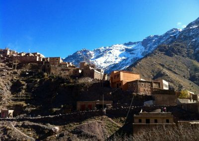 Berber village of Aremd near Jebel Toubkal in the High Atlas Mountains of Morocco