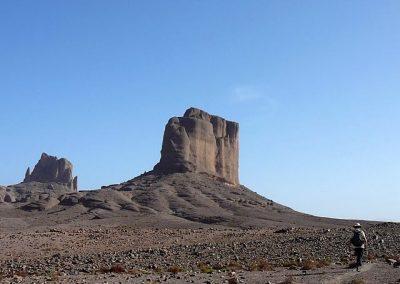 Bab n'Ali volcanic rock formation in Jebel Sahgro mountain range in Morocco