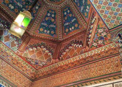 Ceiling inside Marrakech's Bahia Palace