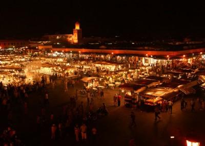 Marrakech's Djemaa el Fna at night