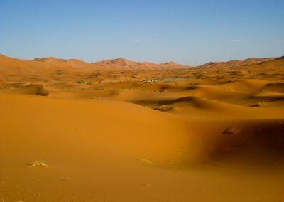 Sand dunes in the Sahara Desert of Morocco