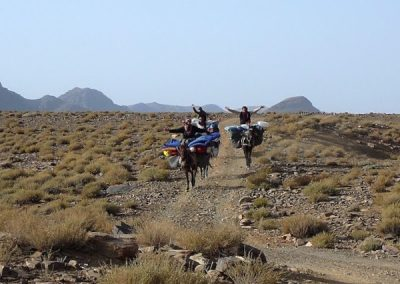 Muleteers on a private guided hike in Jebel Saghro mountain range with Experience Morocco