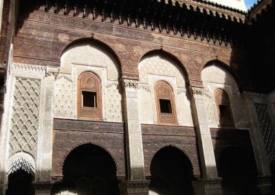 Medresse el Attarine in Fes in Morocco