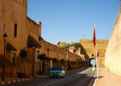Meknes' old city walls in Morocco