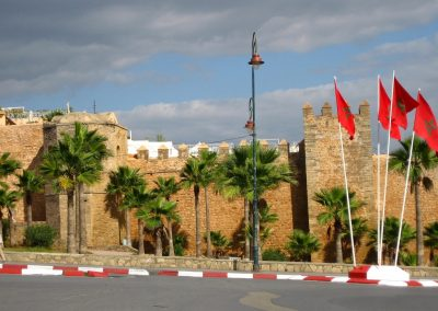 Rabat's old city wall in Morocco