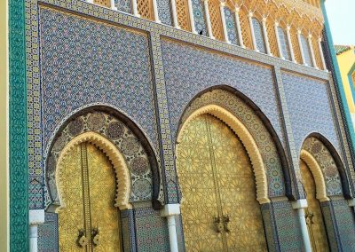 Royal Palace in classic Morocco's imperial city of Fes