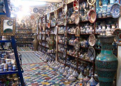 Ceramics shop in Fes in Morocco