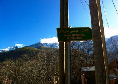Sign to Toubkal National Park