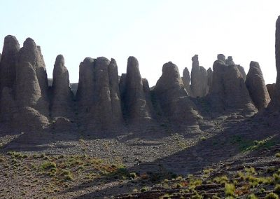 The Pinnacles volcanic rock formation in Jebel Saghro mountain range in Morocco