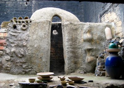 Traditional kiln at a ceramics factory in Fes in Morocco