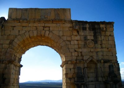 Archway at Volubilis Roman ruins in Morocco