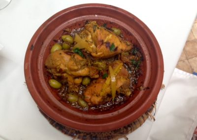 Cooked authentic Moroccan tagine