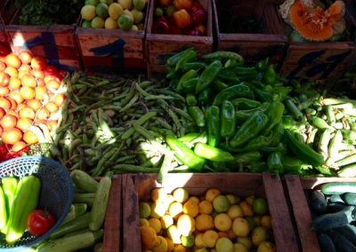 Fruit and vegetables in the Marrakech souk
