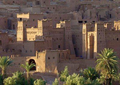 Defensive corner towers within Ksar Ait Ben Haddou