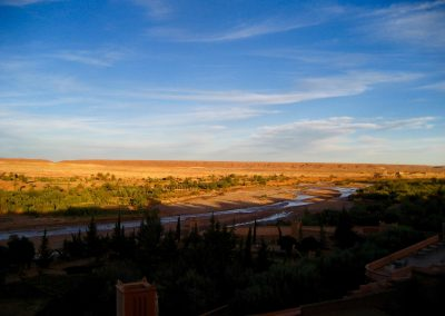 View down the Ounila River from Ait Ben Haddou's new town