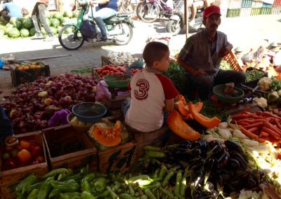 Greengrocer in the Marrakech souk
