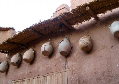 Storage vessels on a wall within Ksar Ait Ben Haddou