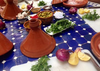 Ingredients used during the tagine cooking class in Marrakech with Experience Morocco