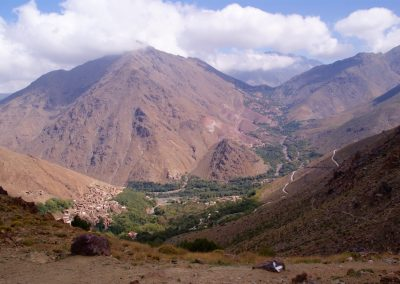 View from Tizi n'Tamatert Pass on a day hike in the High Atlas with Experience Morocco