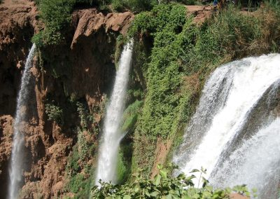 View of Ouzoud Waterfalls from the walking trail circling the falls