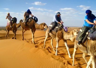 Sahara Desert camel ride on a private guided tour with Experience Morocco