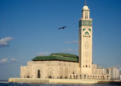 Hassan II Mosque in Casablanca in Morocco
