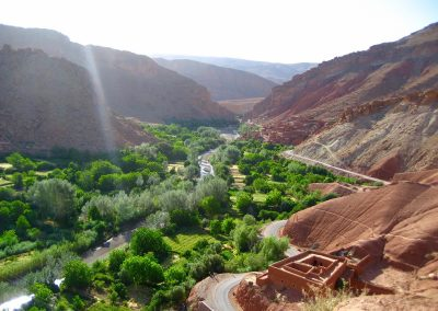 Berber oasis town in the Valley of Roses near Dades Valley in Morocco