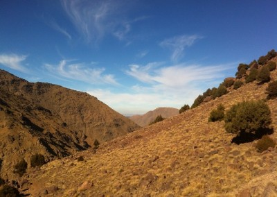 Blue skies in the High Atlas Mountains of Morocco