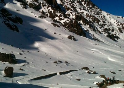 Base camp near Jebel Toubkal in the High Atlas Mountains of Morocco