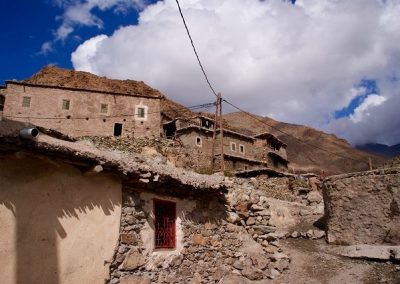 Berber village in Jebel Saghro mountain range in Morocco