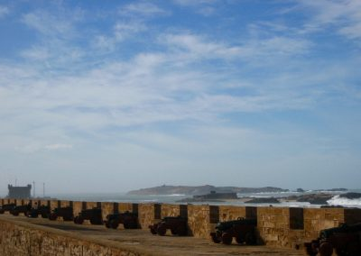 Cannons at Essaouira's rampart in Morocco