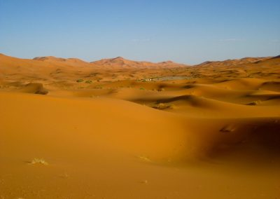 Sand dunes in the Sahara Desert of Morocco