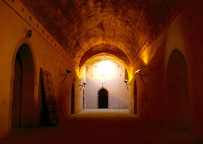 Moulay Ismail's granary interior in Meknes in Morocco