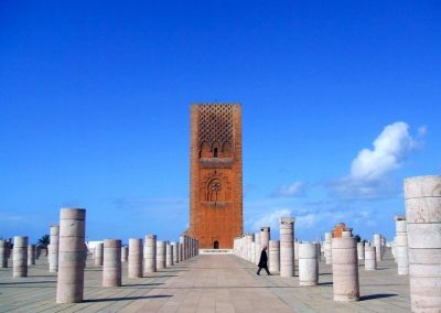 Hassan Tower in Rabat in Morocco
