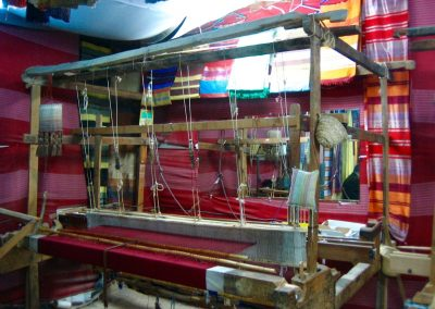 Loom in an agave silk factory in Fes in Morocco