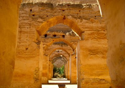 Moulay Ismail's granary in Meknes in Morocco