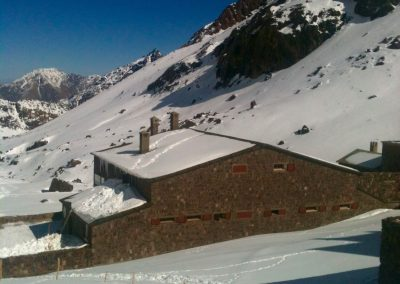 Nelter base camp in the High Atlas Mountains of Morocco