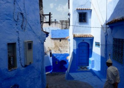 The blue streets of Chefchaouen in Morocco