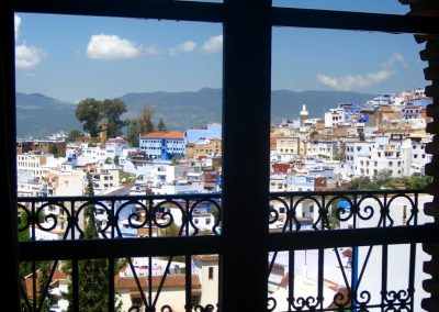 View from a hotel room in Chefchaouen