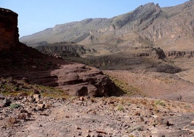 Volcanic mountain scenery in Jebel Saghro mountain range on a private guided hike with Experience Morocco