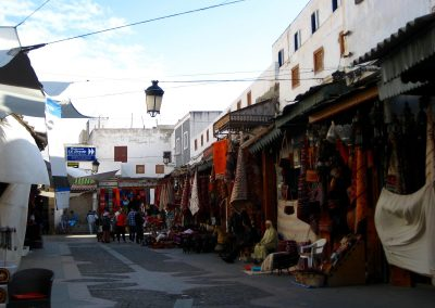 Walking through Rabat's Kasbah des Oudaias in Morocco