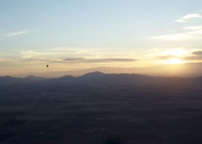 Enjoy the amazing views on a hot air balloon ride near Marrakech with Experience Morocco