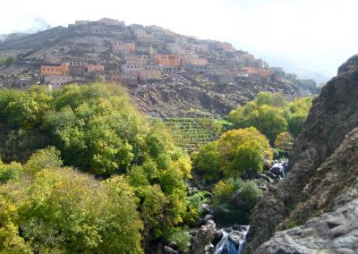 Berber village of Aremd in Imlil Valley in the High Atlas Mountains of Morocco