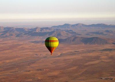 View the High Atlas Mountains on a hot air balloon ride near Marrakech with Experience Morocco