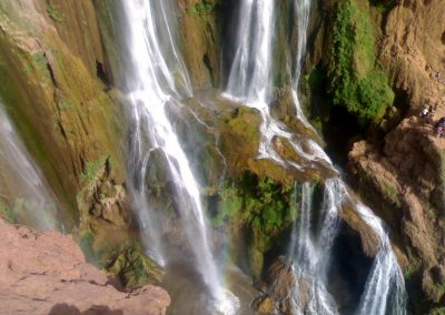 Visit Ouzoud Waterfalls and see their rainbows on a private guided day trip from Marrakech
